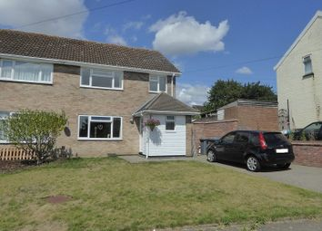 Thumbnail 3 bed semi-detached house for sale in School Road, Knodishall, Saxmundham, Suffolk