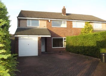 Thumbnail 4 bedroom semi-detached house to rent in The Turnpike, Fulwood, Preston