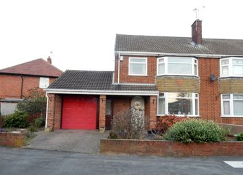 Thumbnail 3 bed semi-detached house for sale in Langdale Road, Worksop