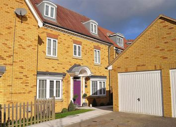 Thumbnail 4 bed town house for sale in Hedgers Way, Ashford