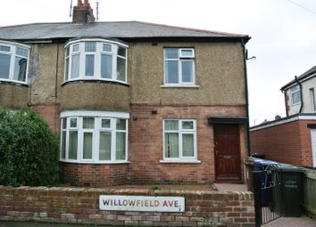 Thumbnail 3 bedroom flat to rent in Willowfield Avenue, Newcastle Upon Tyne