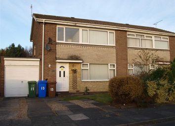 Thumbnail 3 bed semi-detached house for sale in Malden Close, Cramlington