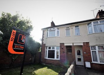 Thumbnail 2 bedroom semi-detached house to rent in Freehold Road, Ipswich, Suffolk
