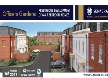 Thumbnail 4 bedroom property for sale in Officers Gardens Royal Clarence Marina, Gosport
