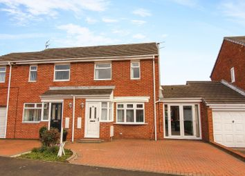 Thumbnail 4 bed semi-detached house for sale in Nursery Park, Ashington