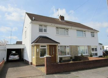 Thumbnail 3 bedroom semi-detached house for sale in Cae Newydd Close, Michaelston-Super-Ely, Cardiff