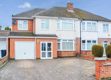 Thumbnail 5 bed semi-detached house for sale in Thurnview Road, Evington, Leicester