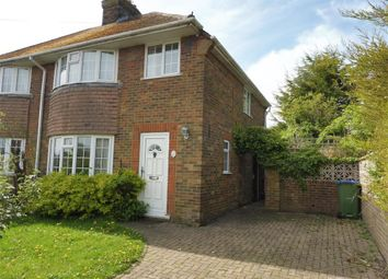 Thumbnail 3 bed semi-detached house to rent in Highdown Road, Lewes