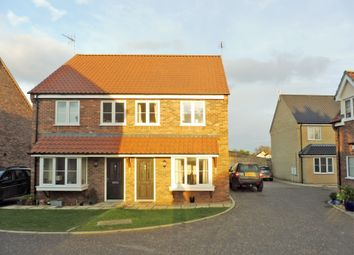 Thumbnail 3 bed semi-detached house for sale in Wickfield Close, Blundeston, Lowestoft