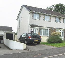 Thumbnail 3 bed semi-detached house to rent in Ty Gwyn Drive, Brackla, Bridgend