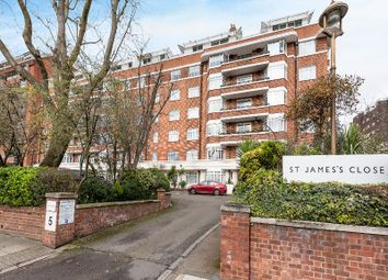 Thumbnail 3 bed flat for sale in St. James Close, London