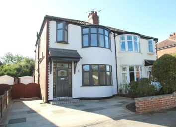 Thumbnail 3 bed semi-detached house for sale in Gladstone Road, Altrincham
