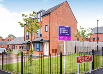 Thumbnail 3 bed town house for sale in Silver Court Gardens, Walsall