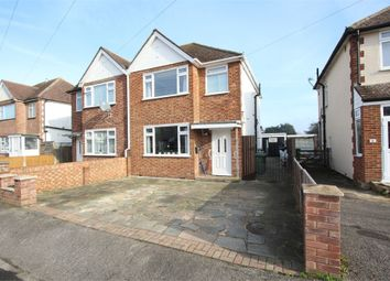 Thumbnail 3 bed semi-detached house for sale in Shortwood Avenue, Staines-Upon-Thames, Surrey