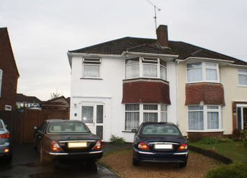 Thumbnail 3 bed semi-detached house for sale in Ravensbourne Drive, Woodley, Reading