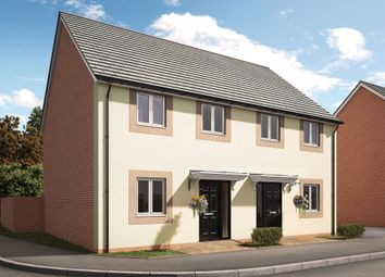 "Thumbnail 3 bed semi-detached house for sale in ""The Denbury"" at Swallow Field, Roundswell, Barnstaple"