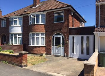 Thumbnail 3 bed semi-detached house to rent in Kingsway Road, Braunstone Town, Leicester