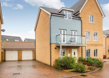 Thumbnail 3 bedroom semi-detached house for sale in Willowcroft Way, Cringleford, Norwich