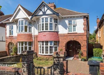 Thumbnail 4 bedroom semi-detached house for sale in Braemore Road, Hove, East Sussex