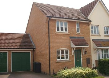 Thumbnail 3 bed semi-detached house to rent in Dunnock Close, Stowmarket