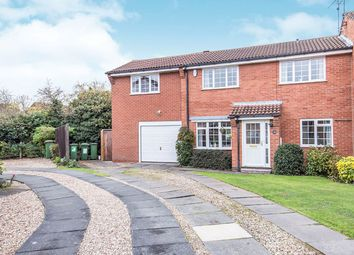 Thumbnail 3 bed semi-detached house for sale in Grosvenor Close, Glen Parva, Leicester