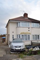 Thumbnail 3 bed semi-detached house to rent in Longford Avenue, Feltham