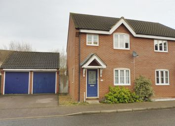 Thumbnail 3 bedroom semi-detached house for sale in Meadow Brown Way, Wymondham