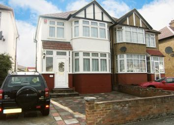 Thumbnail 3 bed semi-detached house to rent in Lynton Avenue, London