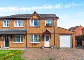 Thumbnail 3 bed semi-detached house for sale in Sussex Close, Giltbrook, Nottingham