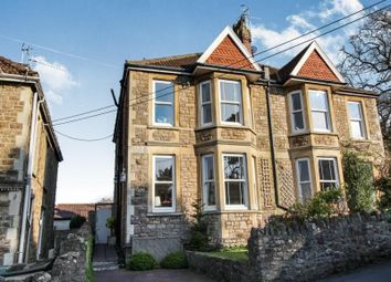 Thumbnail 4 bed semi-detached house for sale in Beach Road West, Portishead, Bristol