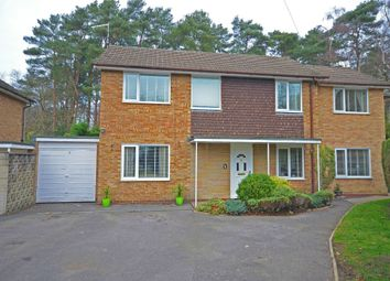 Thumbnail 4 bed detached house for sale in Whitehill Close, Camberley, Surrey
