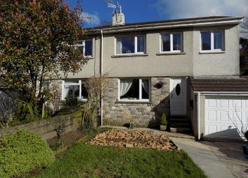 Thumbnail 4 bed semi-detached house for sale in Llangeinor Road, Brynmenyn, Bridgend.