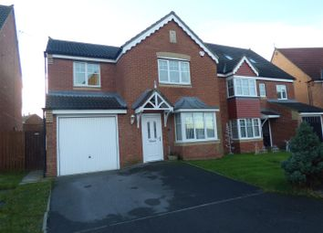 Thumbnail 4 bed detached house for sale in Ellesmere Close, Fencehouses, Houghton Le Spring