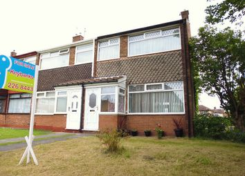 Thumbnail 3 bed end terrace house to rent in North Parkside Walk, West Derby, Merseyside