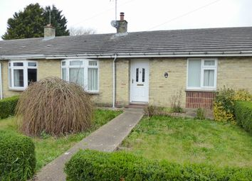 Thumbnail 2 bedroom terraced bungalow for sale in Old Church Road, Terrington St. John, Wisbech