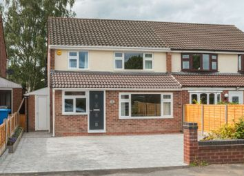Thumbnail 3 bed semi-detached house for sale in Glastonbury Avenue, Hale, Altrincham