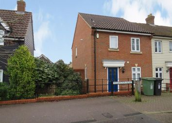 Thumbnail 3 bedroom end terrace house for sale in Wellington Road, Watton, Thetford