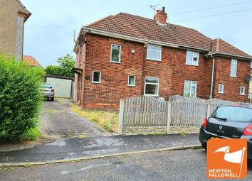 Thumbnail 3 bed semi-detached house for sale in The Crescent, Langwith Junction, Mansfield