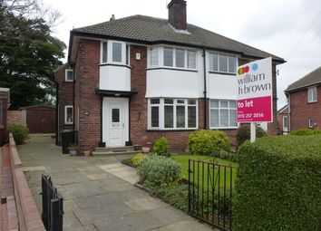 Thumbnail 3 bed semi-detached house to rent in Green Hill Drive, Leeds