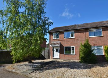 Thumbnail 3 bed semi-detached house for sale in Langley Road, South Wootton, King's Lynn