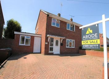 Thumbnail 3 bed semi-detached house for sale in Copes Way, Uttoxeter