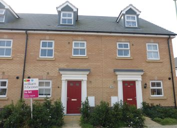 Thumbnail 3 bed terraced house to rent in Snowdrop Way, Red Lodge, Bury St. Edmunds