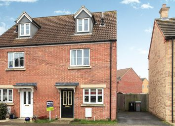 Thumbnail 3 bed semi-detached house for sale in Churchfield Close, Deeping St. James, Peterborough