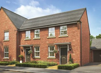 "Thumbnail 2 bedroom terraced house for sale in ""Wilford"" at Stoke Road, Poringland, Norwich"