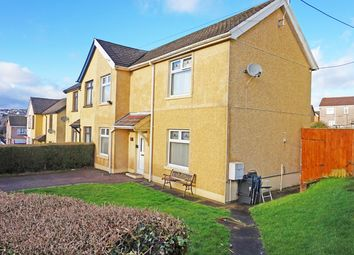 Thumbnail 3 bed semi-detached house for sale in The Crescent, Maesycwmmer
