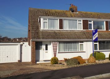 Thumbnail 3 bed semi-detached house for sale in Burnside, Exmouth, Devon