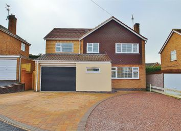 Thumbnail 4 bed detached house for sale in Wreake Drive, Rearsby, Leicestershire