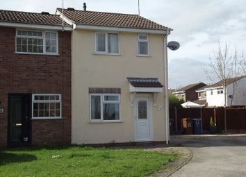 Thumbnail 2 bed end terrace house to rent in Caernarvon Close, Stretton, Burton-On-Trent