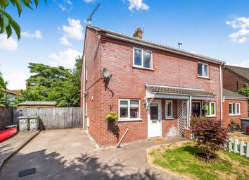 Thumbnail 2 bed semi-detached house for sale in Marshall Howard Close, Cawston, Norwich
