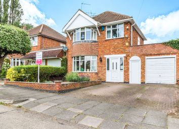 Thumbnail 3 bed detached house for sale in Kingscliffe Crescent, Leicester